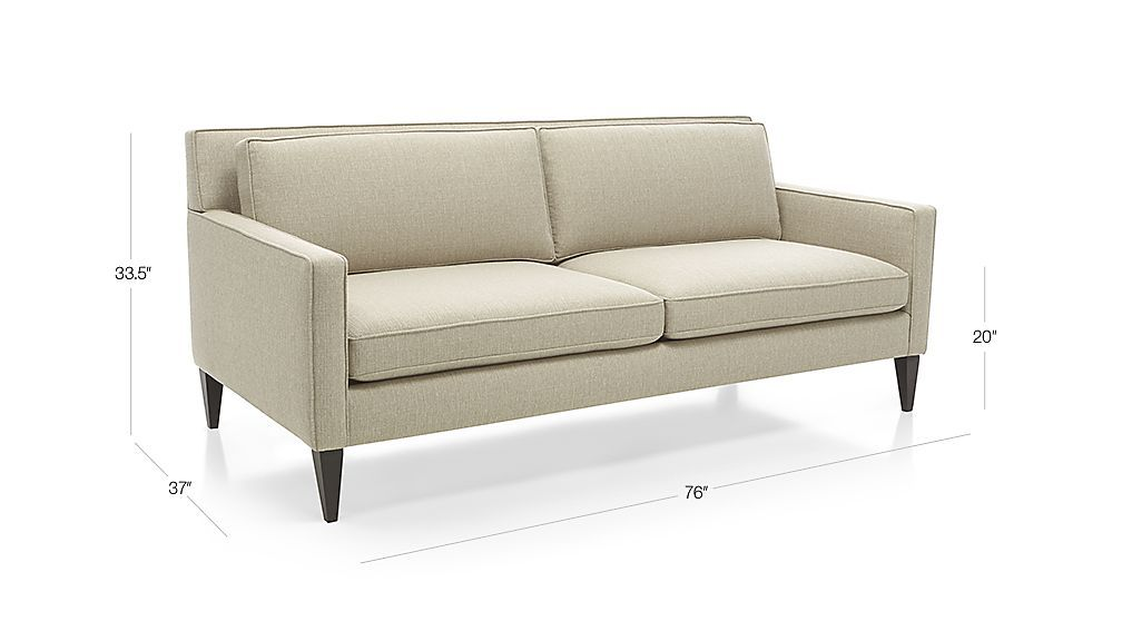 Rochelle Apartment Sofa Dimensions Apartment Size Sofa Modern Couch