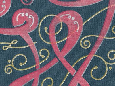 Close up of some beautiful typography by Kendrick Kidd