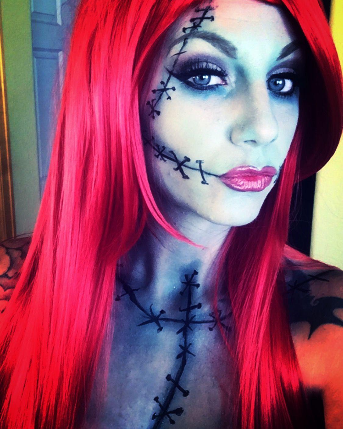 Sally rag doll makeup nightmare before Christmas instagram
