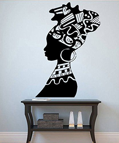 Woman Wall Vinyl Decal African Woman Vinyl Sticker Girl Decals Home Decor  (25angl) a43ba4680c