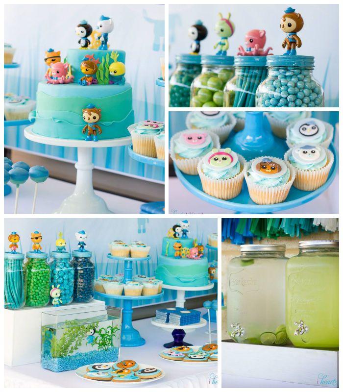 Octonauts themed birthday party with Such Cute Ideas via Karas
