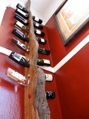 Scrap wood wine rack