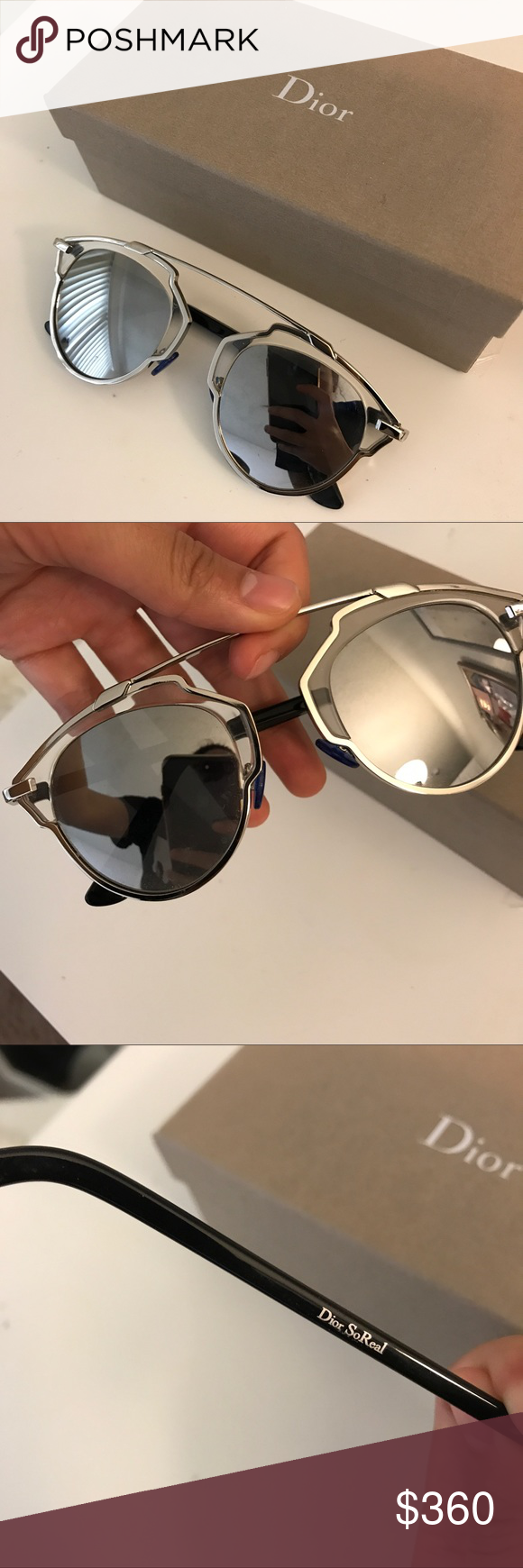 021ef13703f3 Dior sunglasses Dior so real sunglasses silver Christian Dior Accessories  Sunglasses