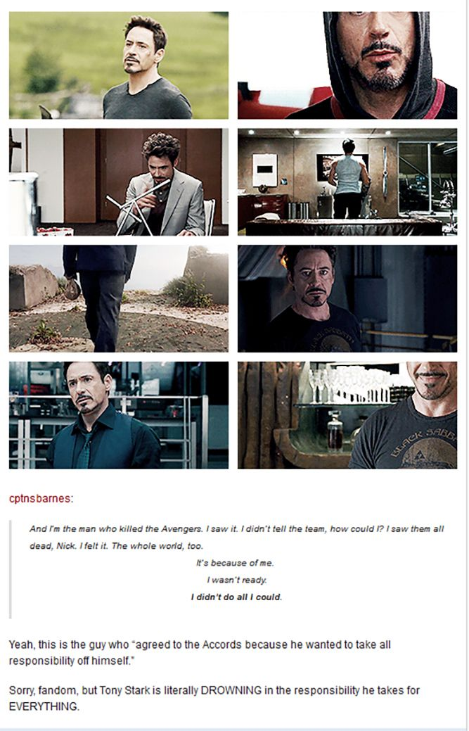 Tony Stark is not running away from responsibility - where