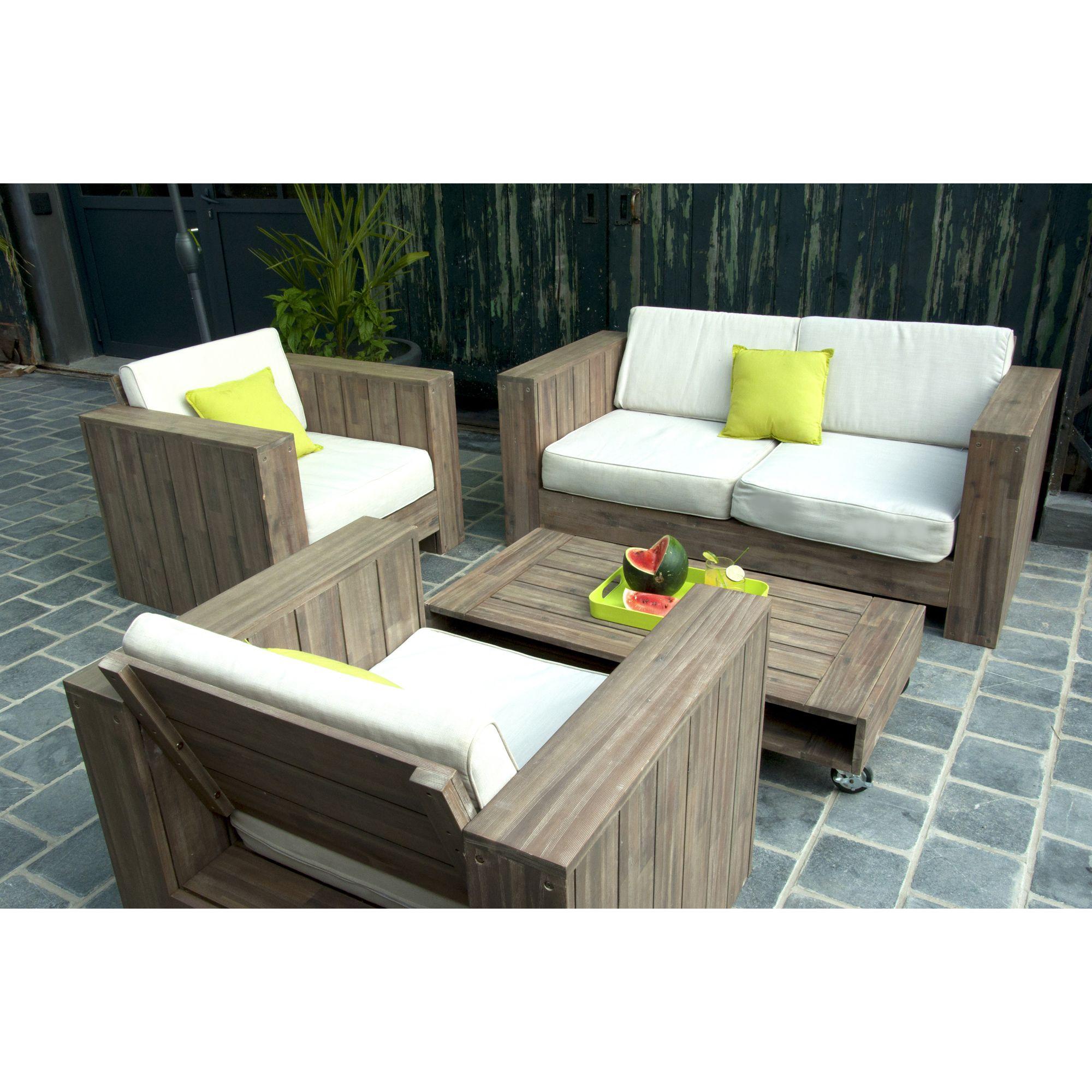 Salon de jardin bas COSMOS certifié FSC - 3 Suisses | palette ...