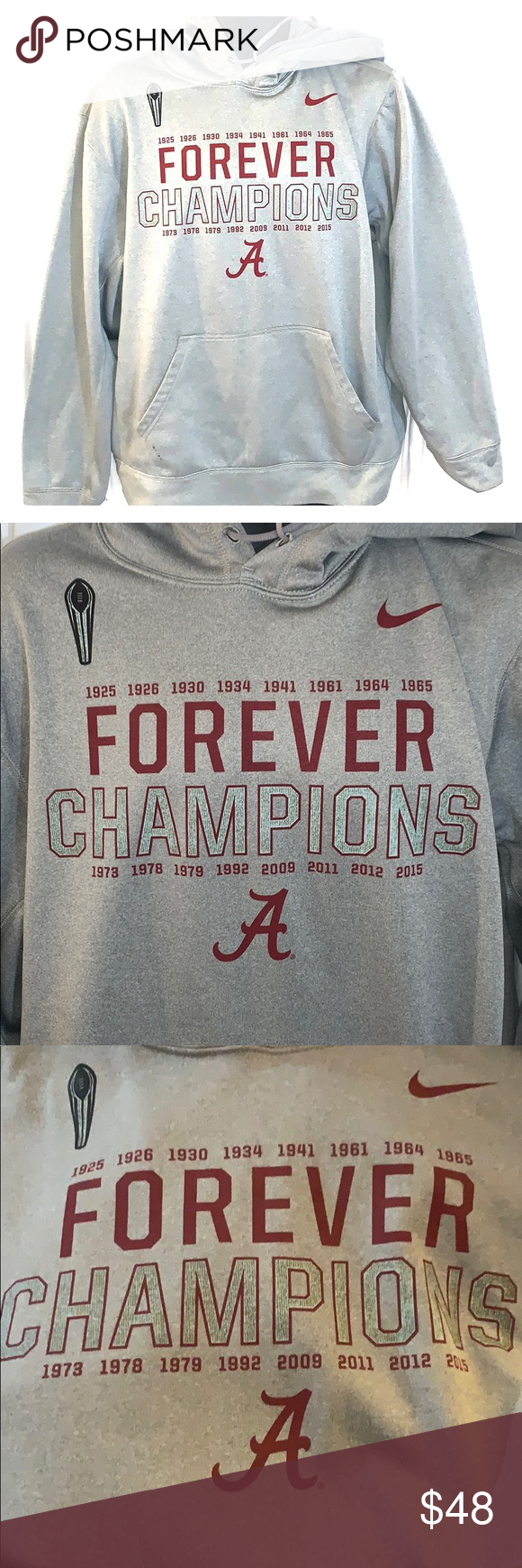 Men S Nike Gray Alabama Crimson Tide College Alabama Crimson Tide Clothes Design Sweatshirt Shirt [ 1740 x 580 Pixel ]