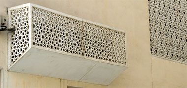 An air-conditioning masking unit
