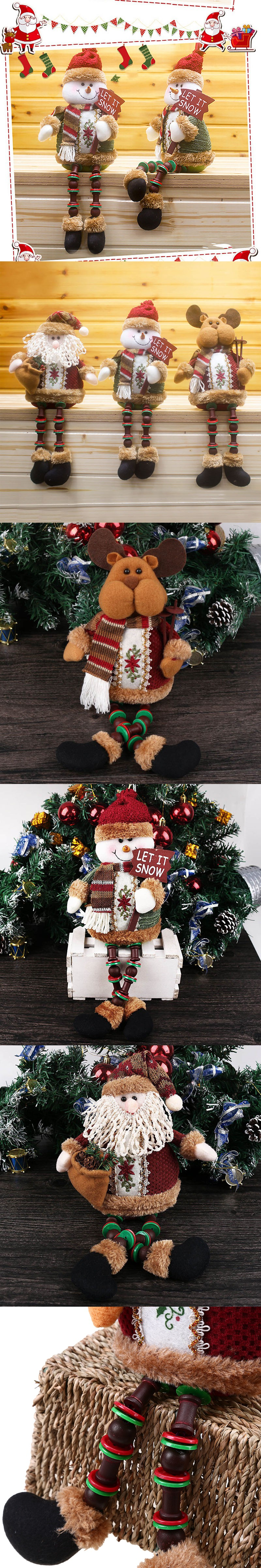 2016 New Xmas Santa Claus Snowman Reindeer Ornaments Festival Party Home Decoration Gift $7.27