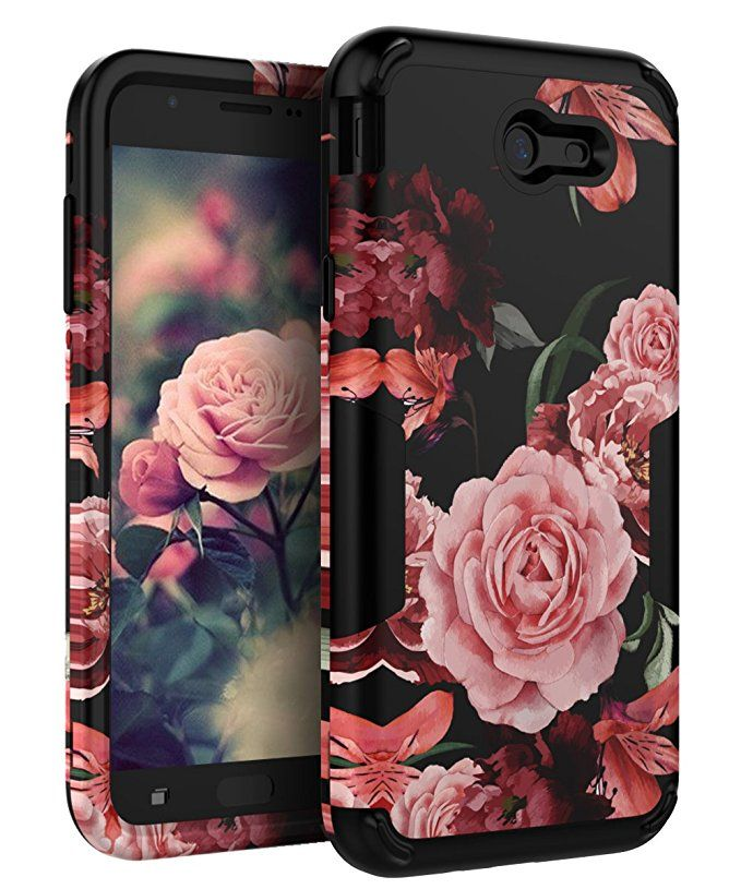 TIANLI Samsung Galaxy J7 2017 Case Cute Flowers for Girls Women Smooth  Surface Three Layer Shockproof Protective Cover for Galaxy J7 2017 J7 V J7  Sky Pro J7 ... 8054c848e