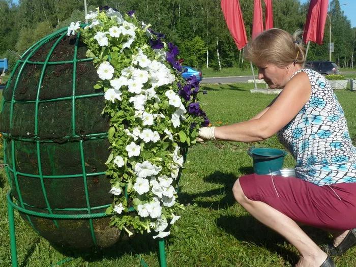кликабельны, как сделать клумбу шар своими руками фото организациях