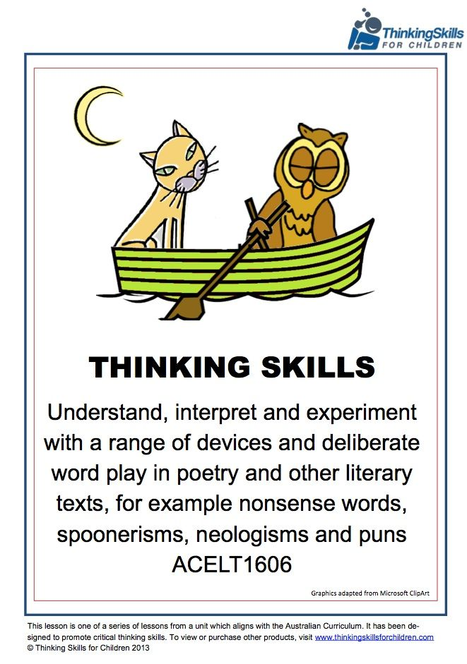 Teaching Activities – Nonsense Words, Spoonerisms, Neologisms And ...