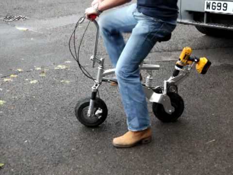 Electric Drill Powered Bicycle
