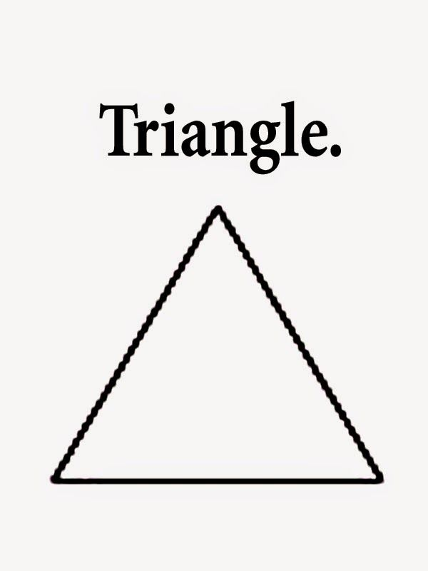 Triangle Coloring Pages Walkers July Aug Shapes Worksheet