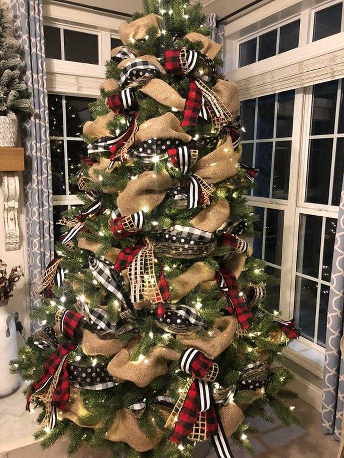 25 Creative Christmas Tree With Ribbon Ideas Christmas Tree Decorating Themes Christmas Tree Decorations Diy Ribbon On Christmas Tree