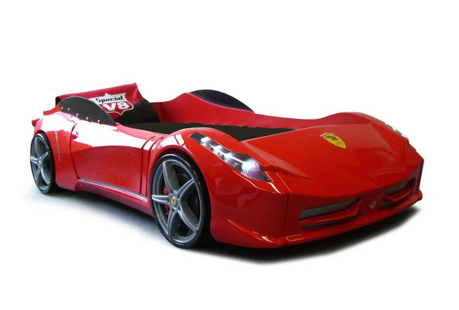 Ferrari F1 Aero Spider Red Race Car Bed Fast Car Beds Furniture