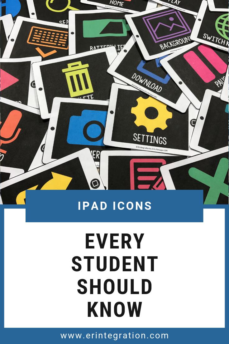Ipad App Icon Cards 28 App Icons To Know Ipad Activities Computer Lab Decor Ipad Apps