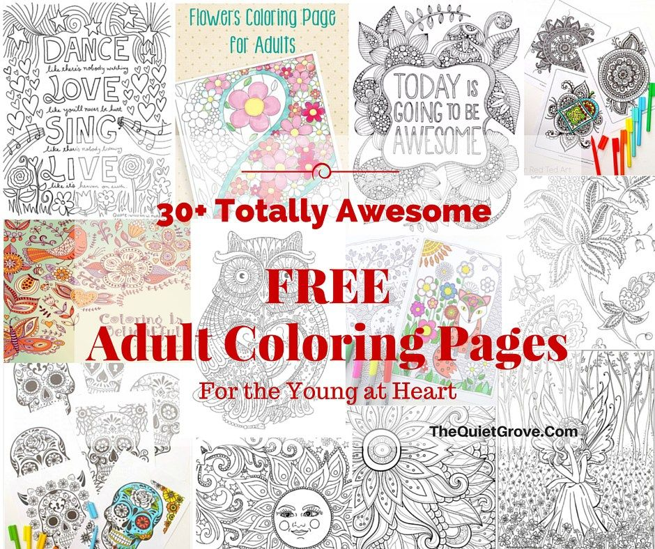 30+ totally awesome Free Adult Coloring Pages | Color outside the ...