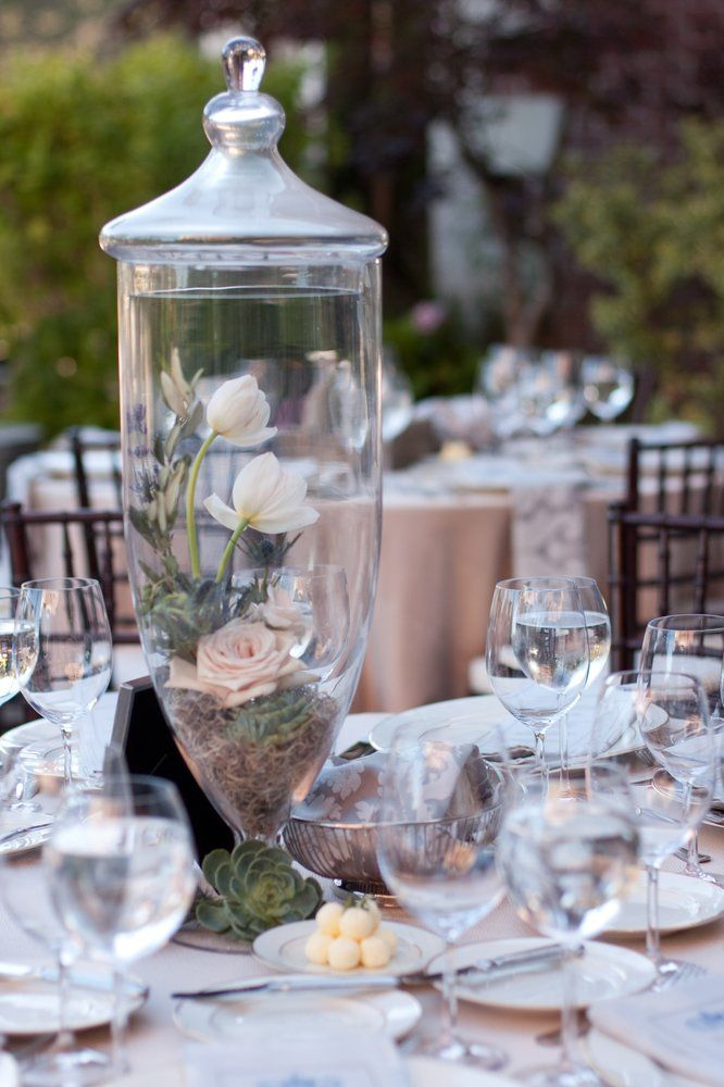 Apothecary Jar Centerpiece For A Wedding Yelp Catering And