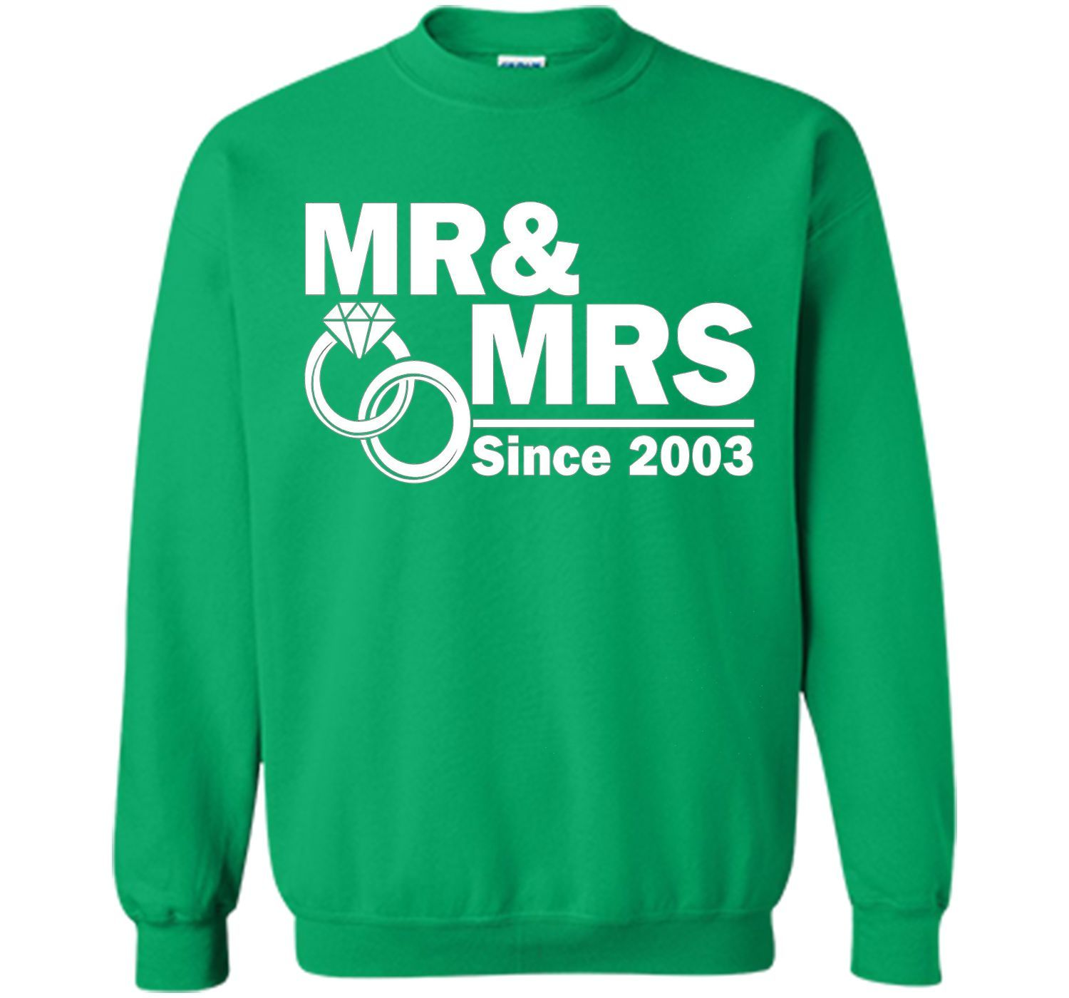 Mr And Mrs Since 2003 T Shirt 14th Wedding Anniversary