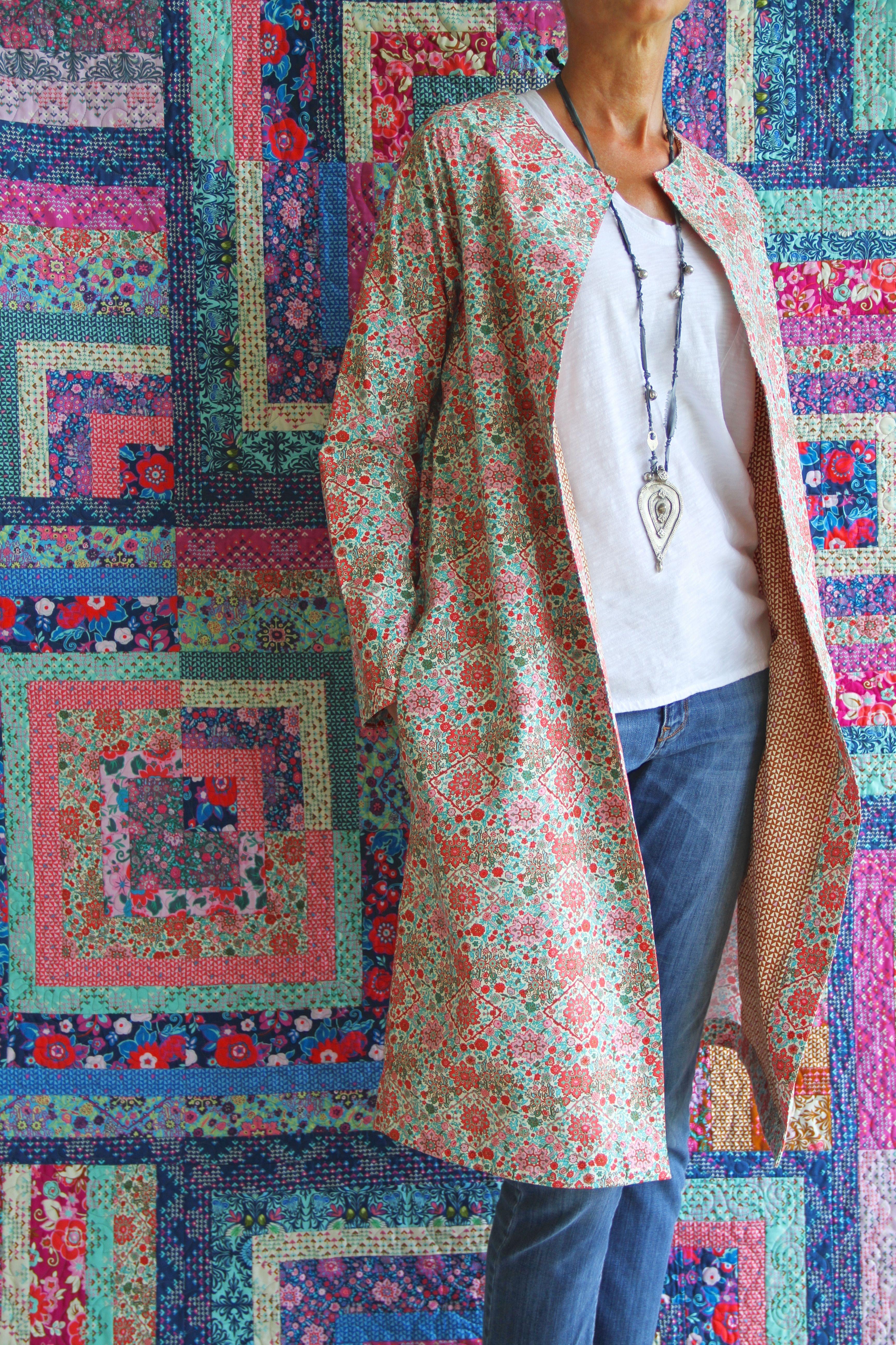 Lotta Jansdotter\'s Pivli Coat in Amy Butler\'s Soul Mate print ...