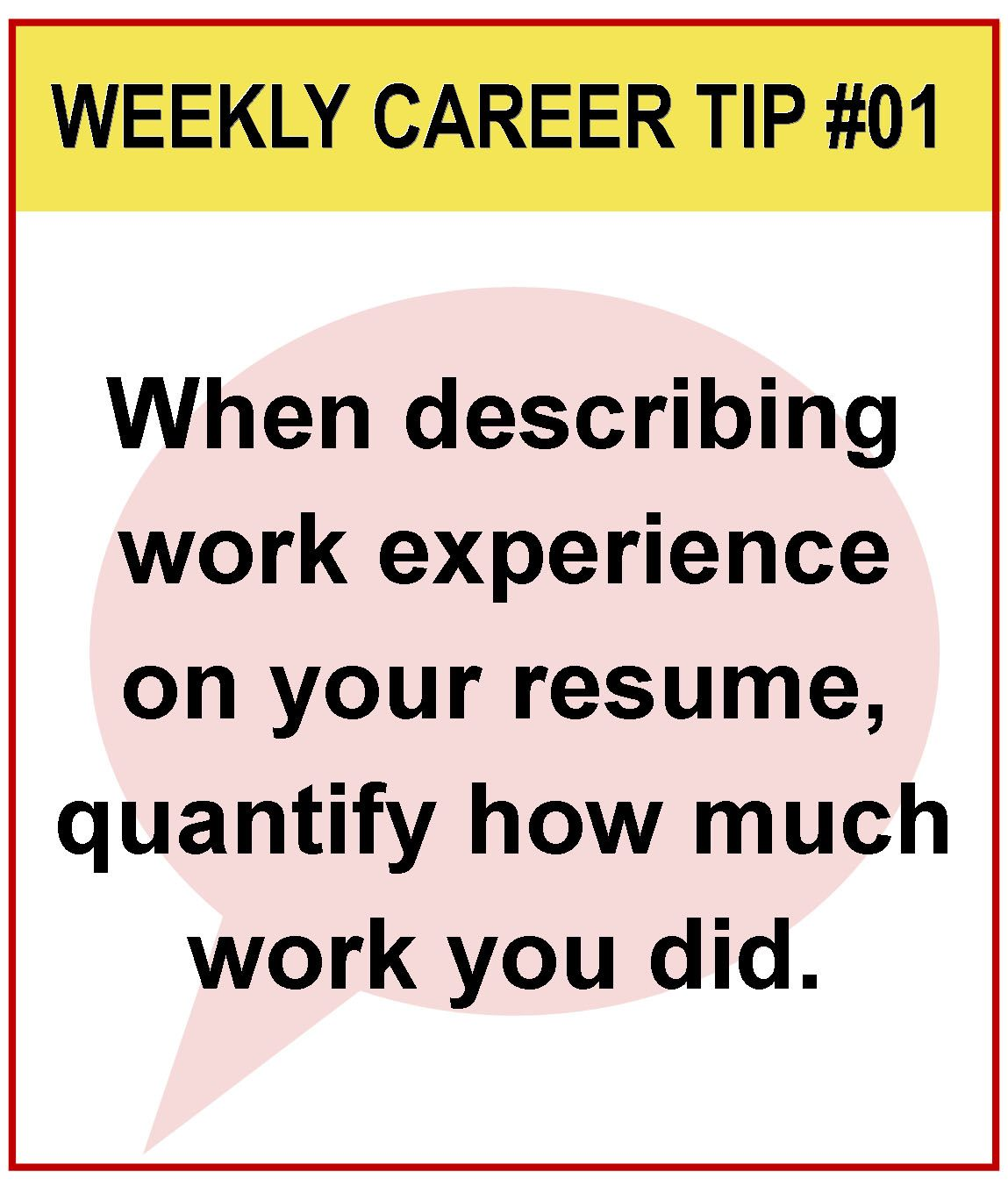 LSCS Weekly Career Tip Number 1 For More Great Ideas Your Check