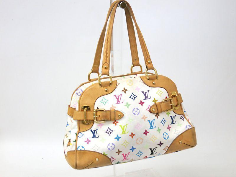 8cba8b5ef9df Louis Vuitton Claudia Hand bag Monogram Multicolor White M40193(BF043105)