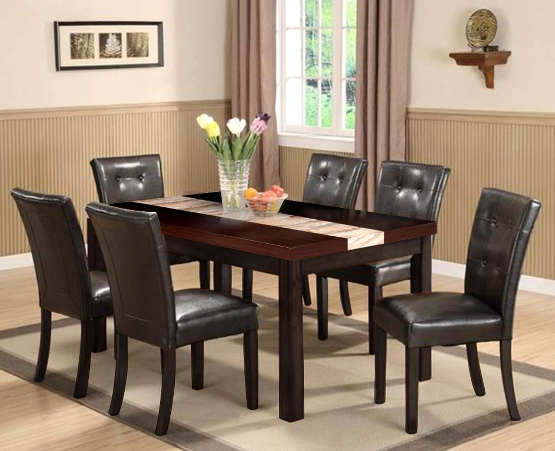 Leather Dining Room Sets  Best Way To Paint Furniture Check More Classy Leather Dining Room Sets Design Decoration