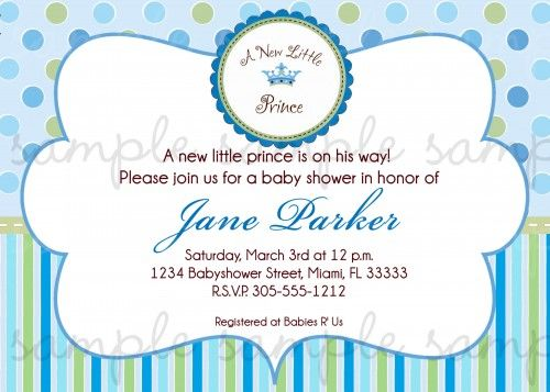A new little prince baby shower invitation baby shower ideas a new little prince baby shower invitation filmwisefo