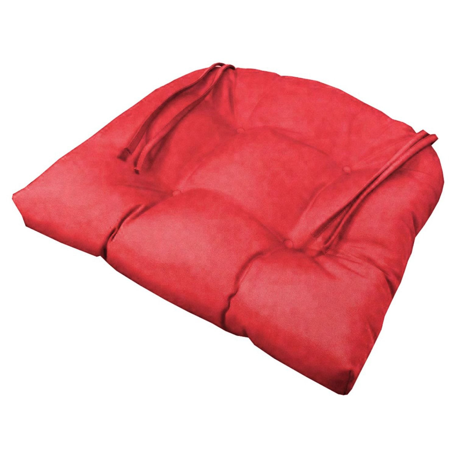 20 Tufted Chair Cushion In Canvas Jockey Red Products Chair Tufted Chair Chair Cushions