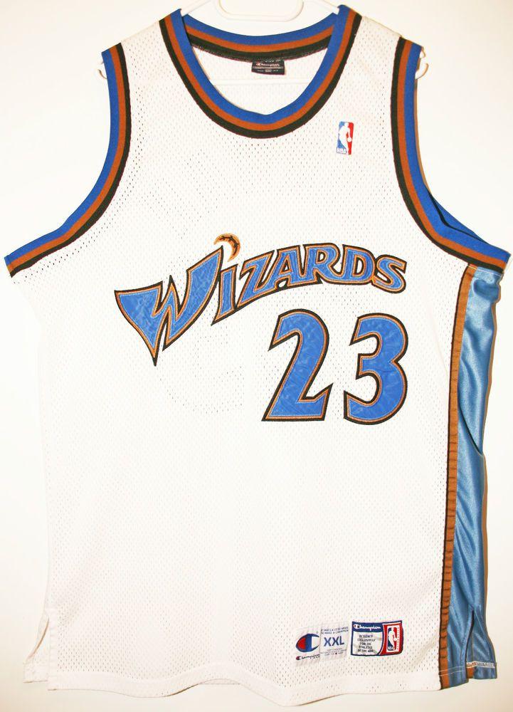 e4a6726803d Champion NBA Basketball Washington Wizards  23 Michael Jordan Authentic  Trikot Jersey Size 52 -