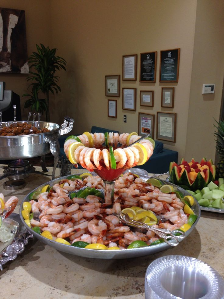 Image result for ways to serve shrimp at on buffet table