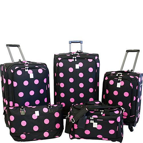 Jenni Chan Polka Dot Luggage Set | Pamper Yourself | Pinterest ...