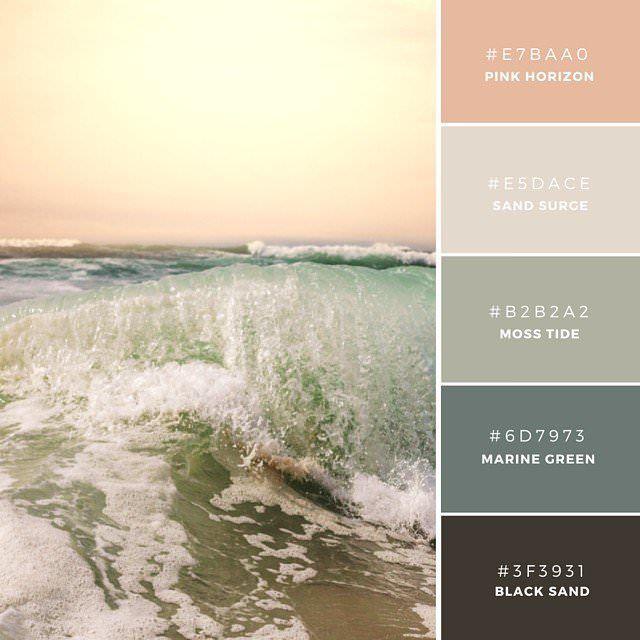 08. Vintage Sundown  温かみのある夕日を連想させる、控えめな配色のカラーパレット。女性的でソフトなムードを演出でき、ヘルスなど健康思考なアイテムに。