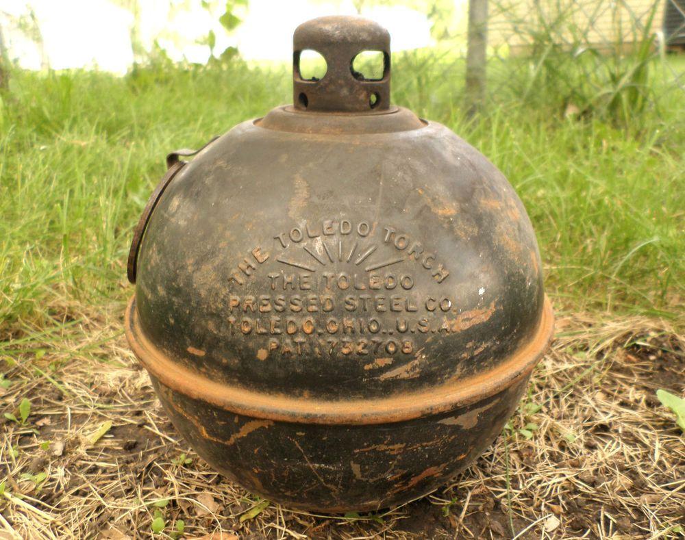 kerosene flare glass vintage