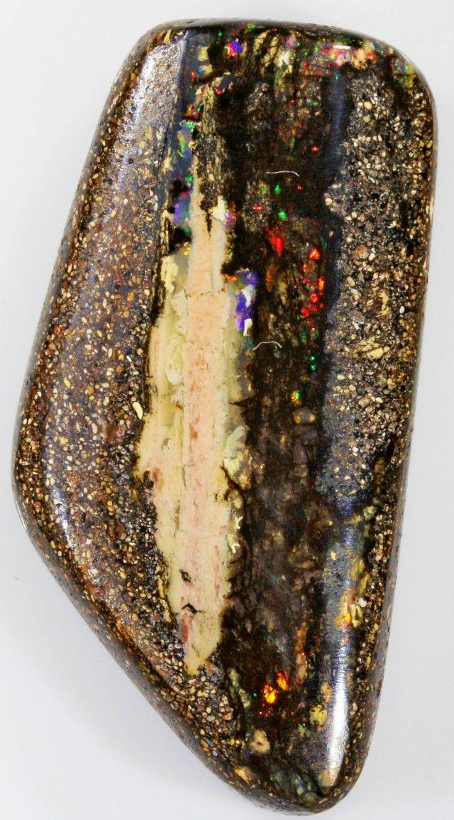 39.15 CTS BOULDER WOOD FOSSIL-WINTON [SO7779]  wood fossil opal , vegetation opal , boulder opal , solid opal , opalized opal