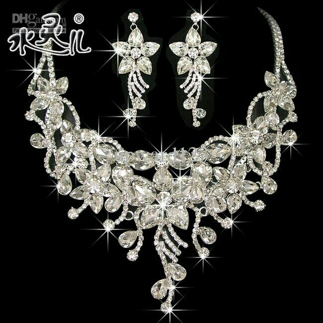 Cheap Wedding Necklace And Earring Sets