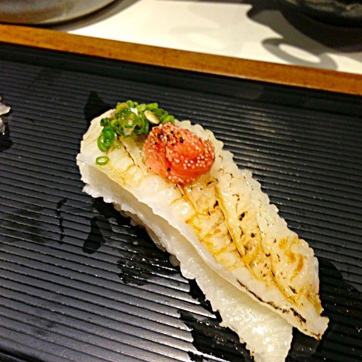 比目魚鮨邊握壽司 by kelly0630 at 2013-8-3