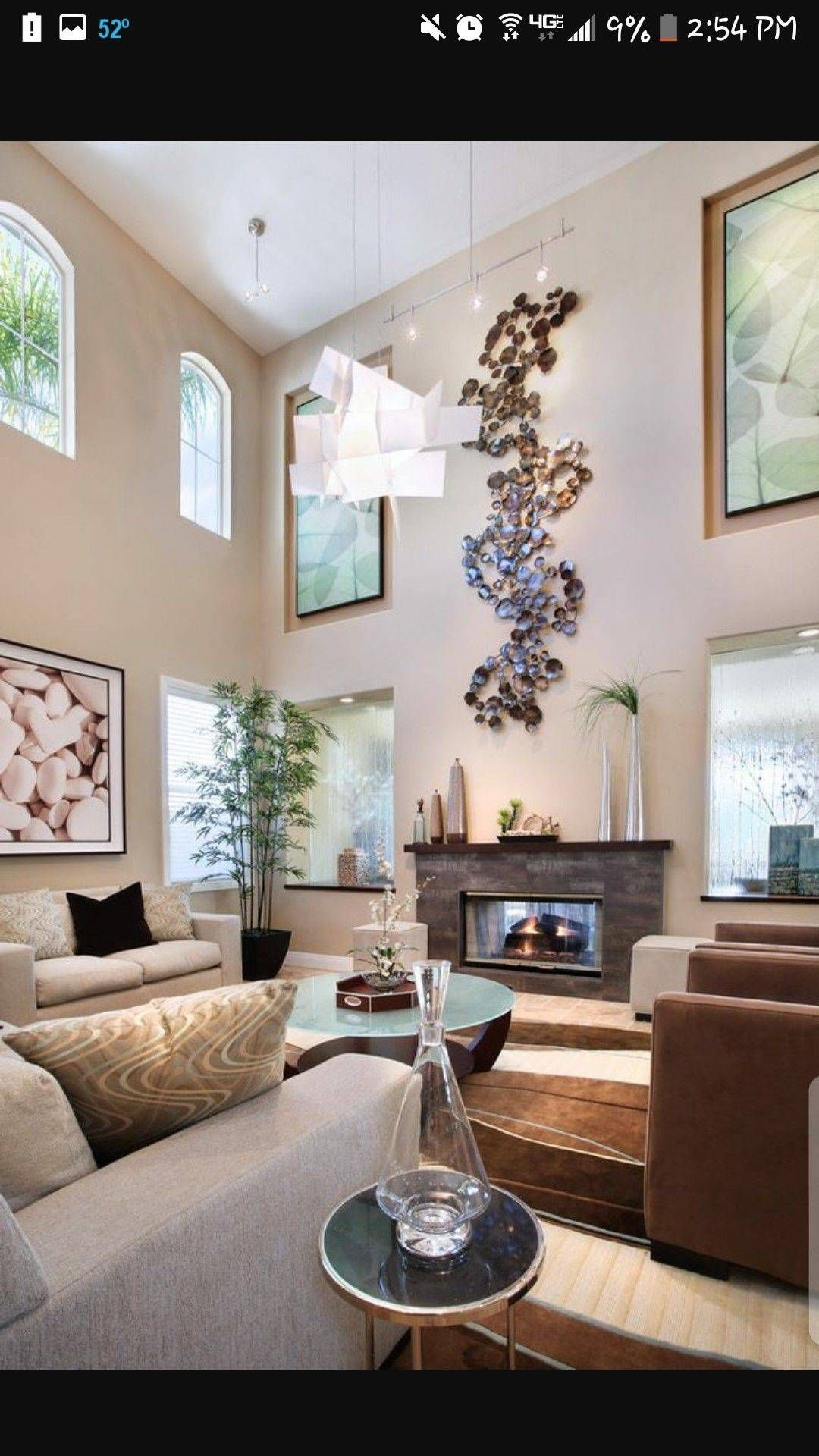 Decorating Rooms With High Ceilings Https Homecreativa Com Decorating Rooms With High Ce High Ceiling Living Room Living Room Draperies Living Room Ceiling