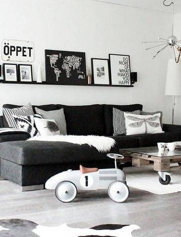 27 Black And White Living Room Decor Ideas Domino Black And