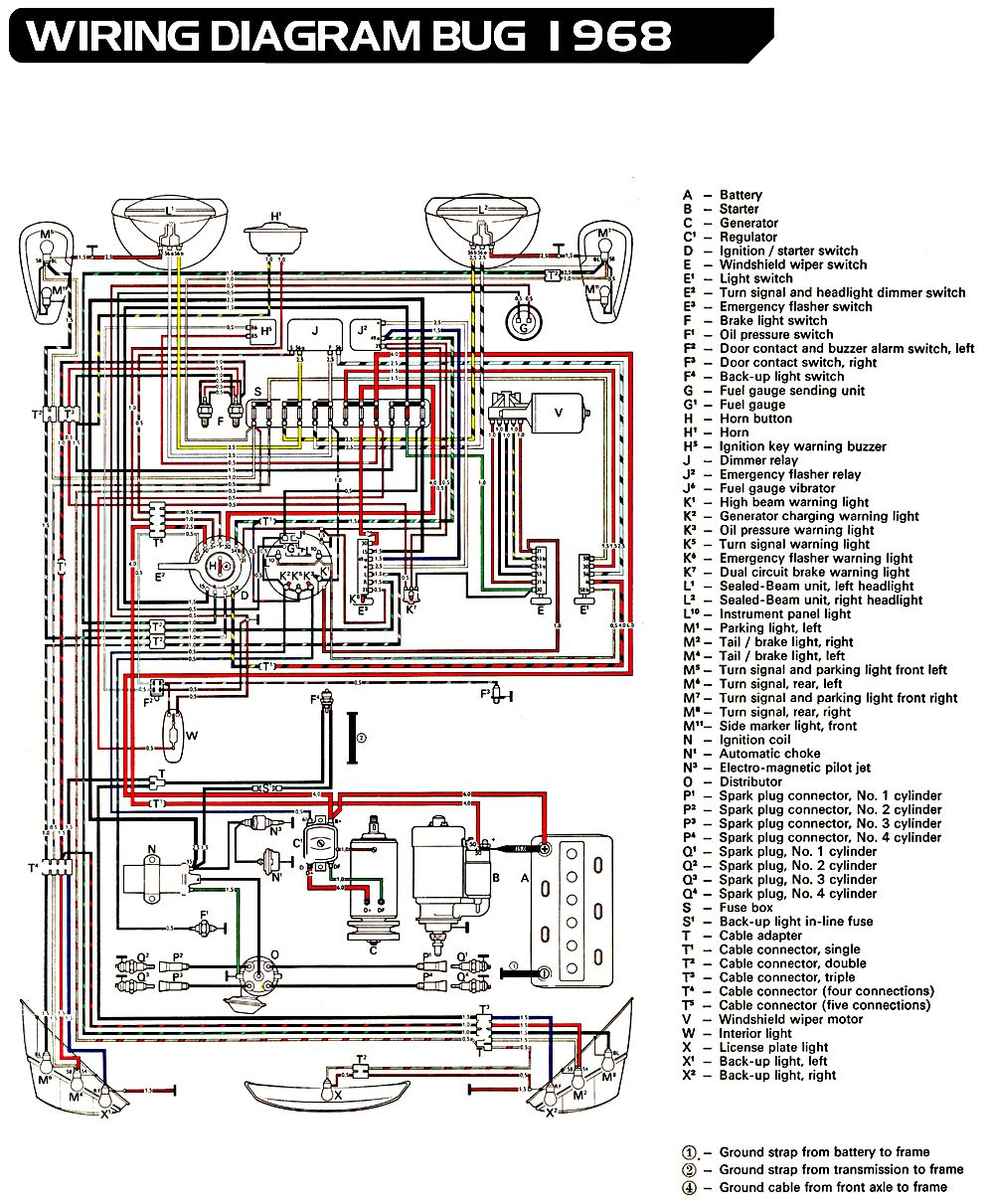 3a1908112d3826270ed5e3be362292bf vw bug ignition wiring diagram 73 vw wiring diagram free 1968 vw bug headlight wiring diagram at soozxer.org