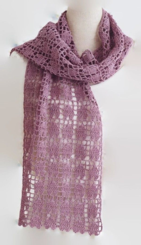 Free Crochet Wrap Easy, can be made with other yarn types | haken ...