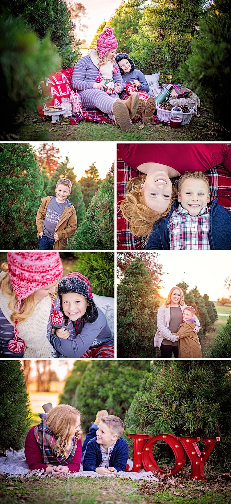 Mommy & Me Christmas Tree Farm Session Christmas tree