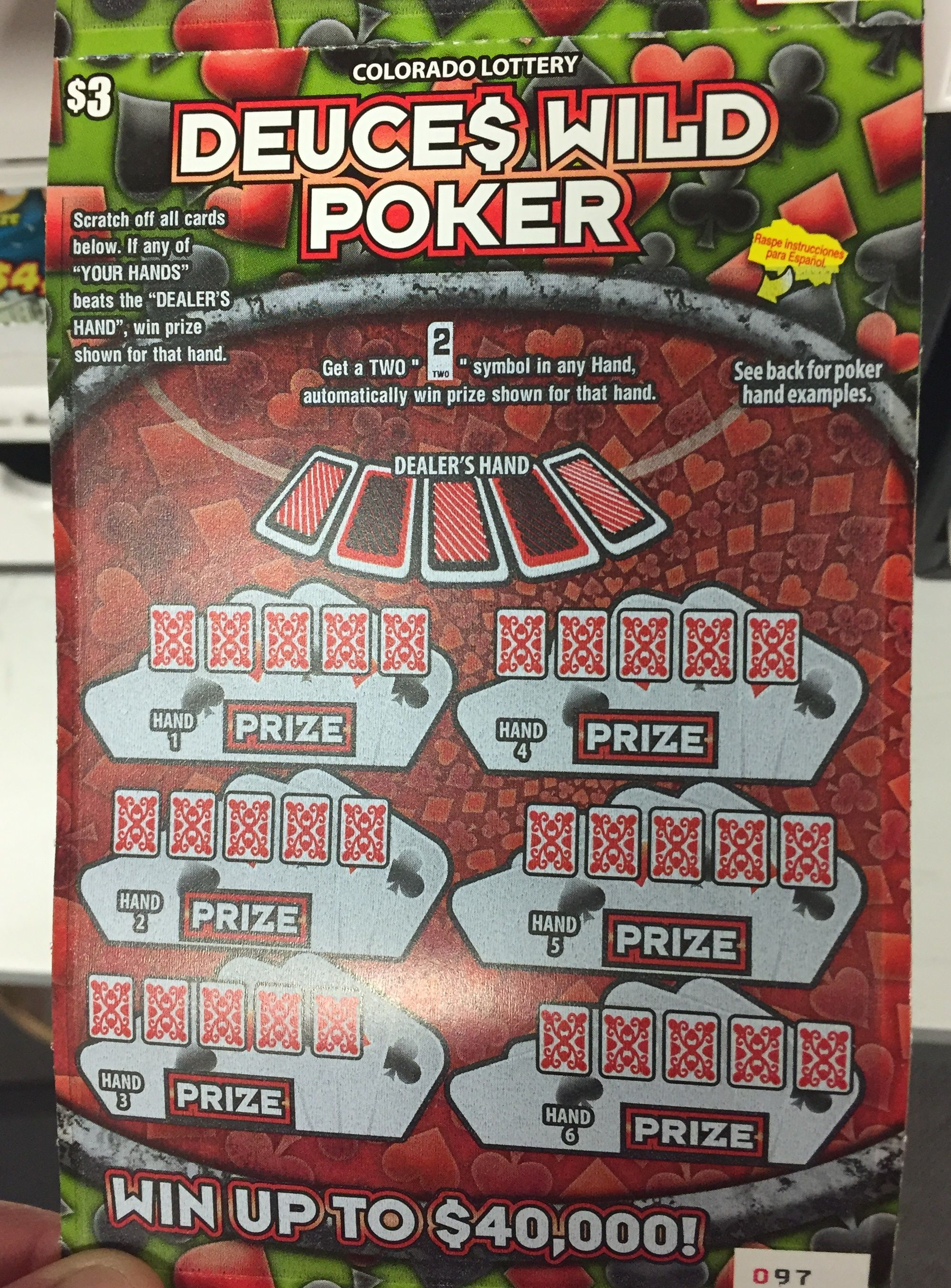 Deuces wild poker has top prizes of 40 grand wanna try