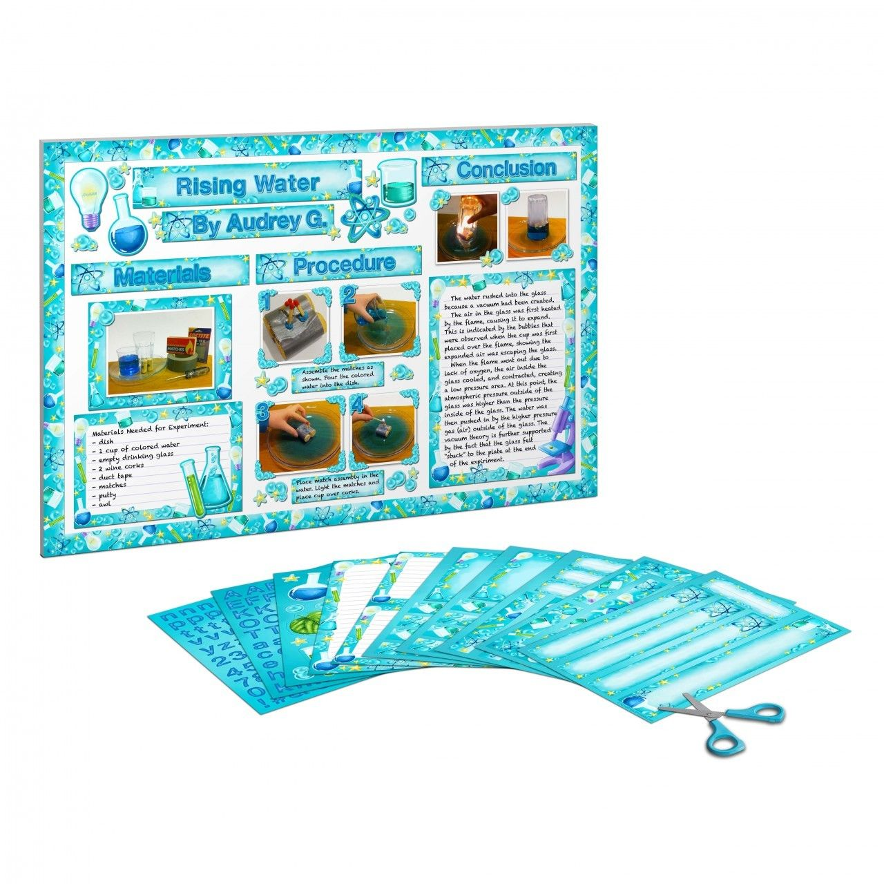 Printable Decorations For A Small Science Fair Display Board 2 95