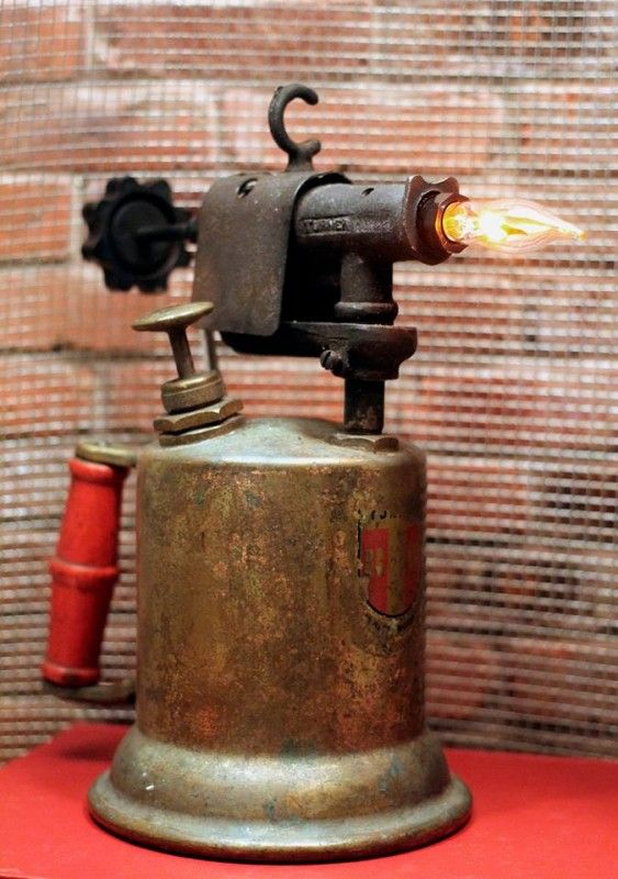 Nice Vintage Upcycled Gas Can U0026 Blowtorch Table Lamp A Vintage Gas Can And  Vintage Gas Pump Married Together Makes For A Perfect Industrial Modern  Table ...