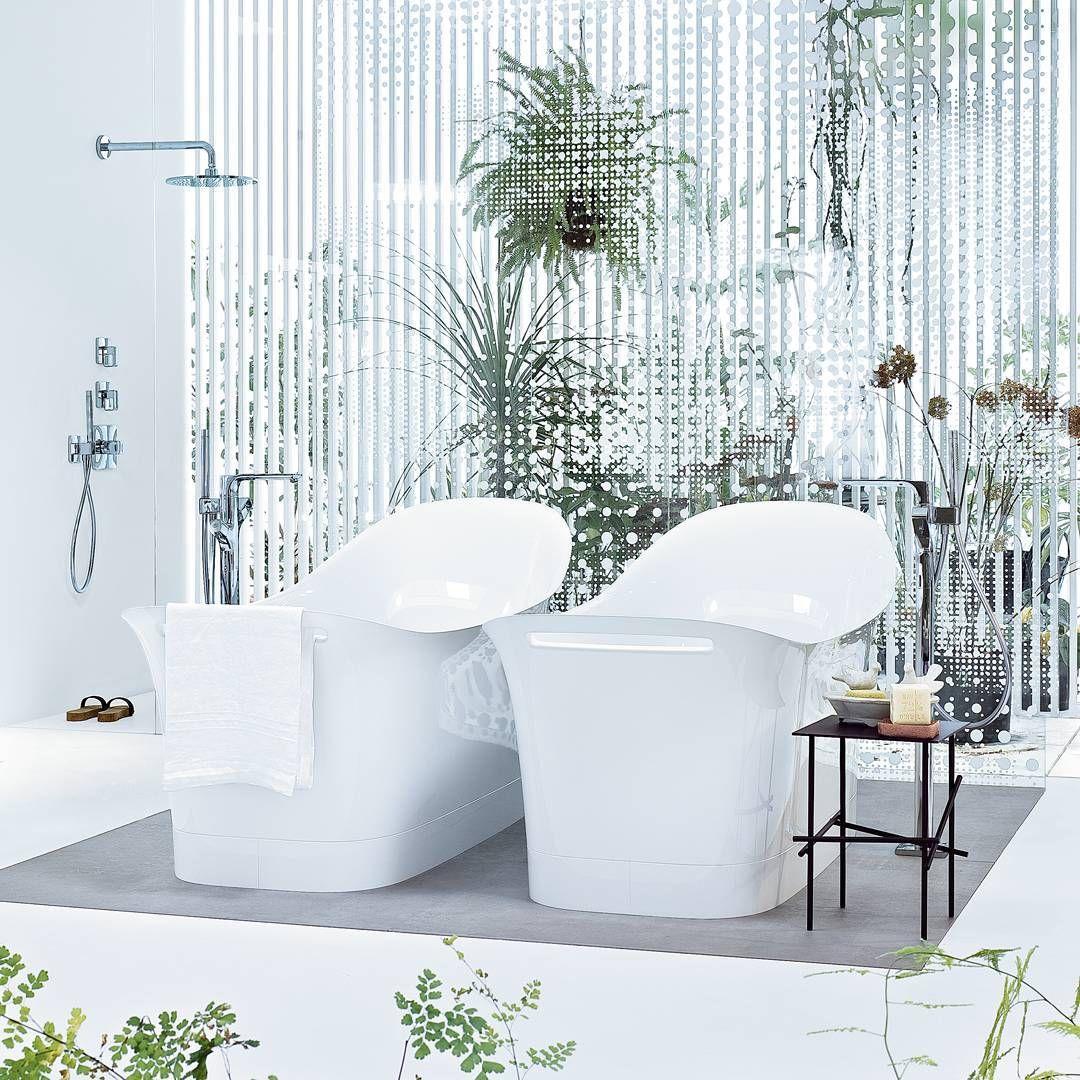 His and Hers   @patricia_urquiola  #AXOR #AXORnordic #PatriciaUrquiola #design #interior #bathroom