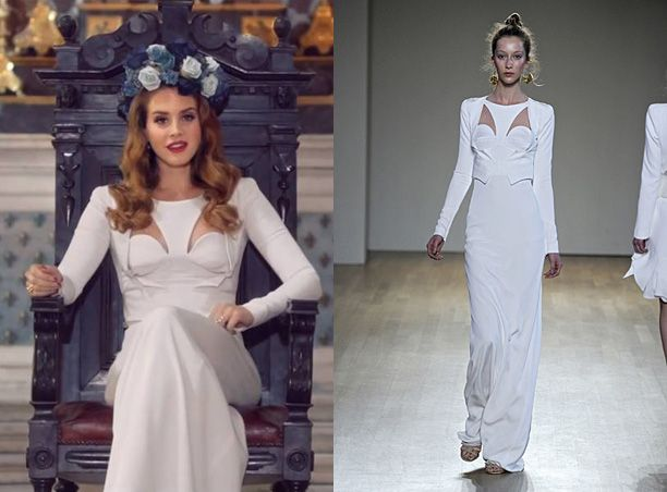 Lana Del Rey Wears Antonio Berardi White Dress In Born 2 Music Video