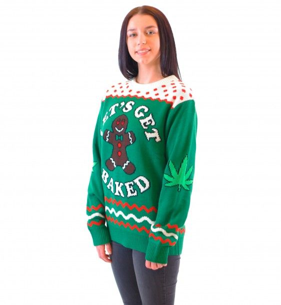 marijuana pot leaf ugly holiday sweaters ugly sweaters by city