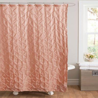 Lake Como Shower Curtain In Peach