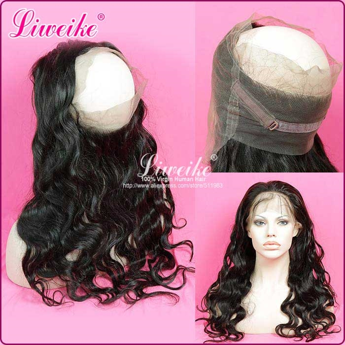 109.65$  Buy now - http://alimdu.worldwells.pw/go.php?t=32754758061 - New arrival 360 Lace Frontal Closure With Baby Hair Adjustment Band Unprocessed Virgin Hair Brazilian Body Wave 360 Lace Frontal